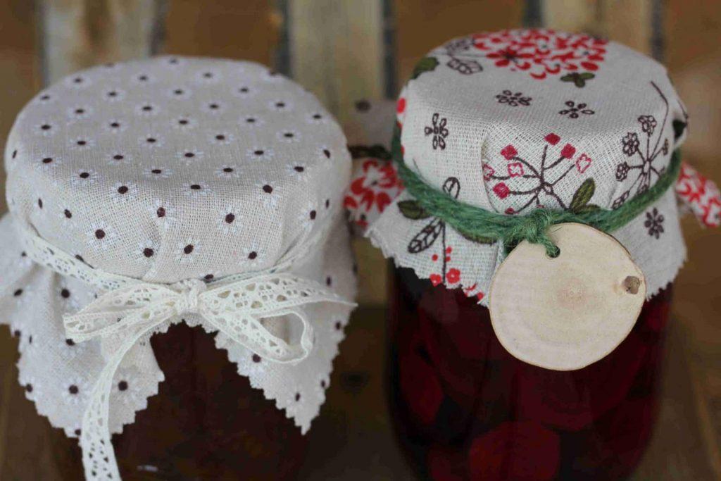 How to Make Fabric Jam Jar Covers