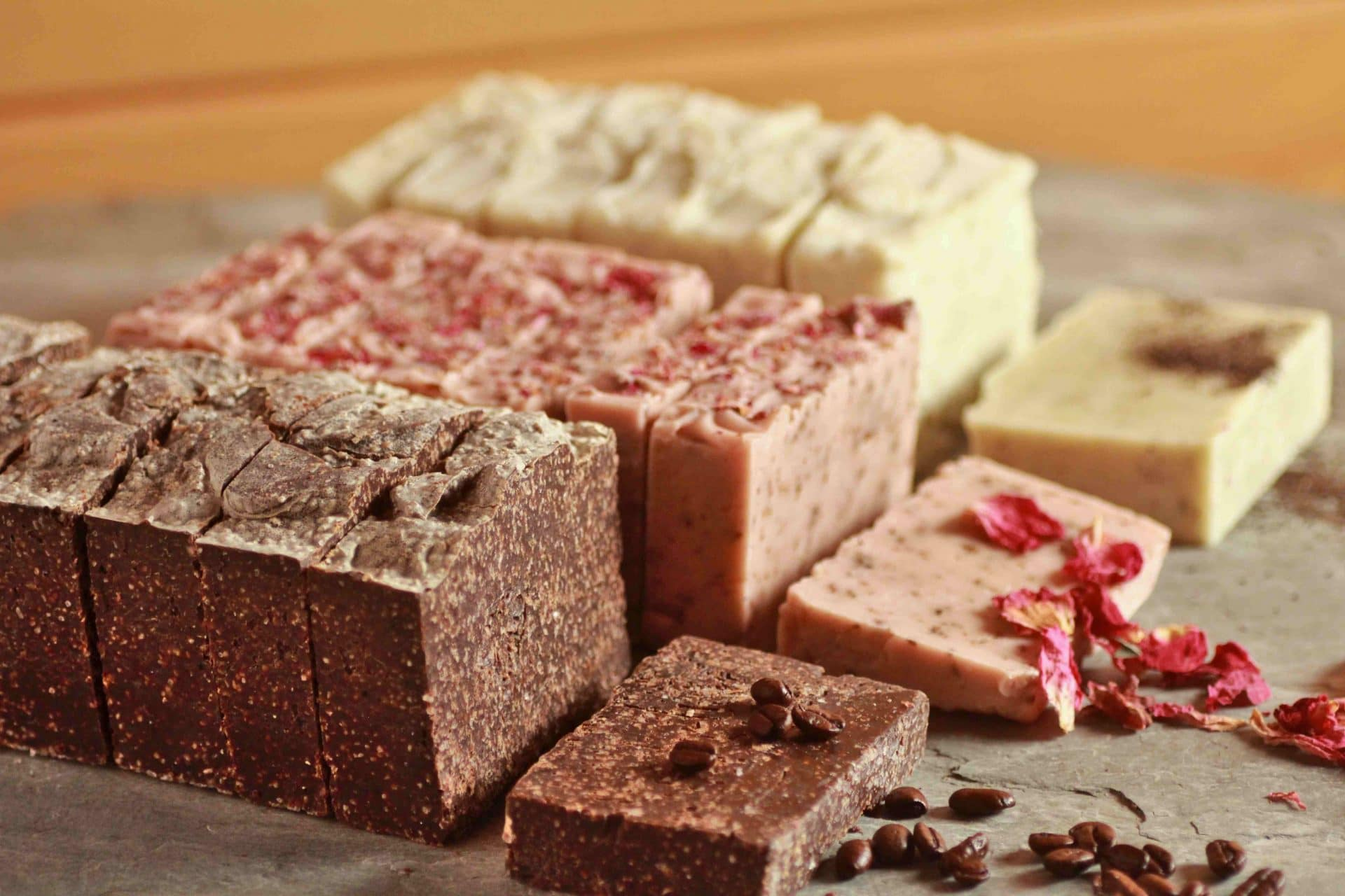 Salt Soap Recipe: Rustic Coffee Cocoa Salt Soap