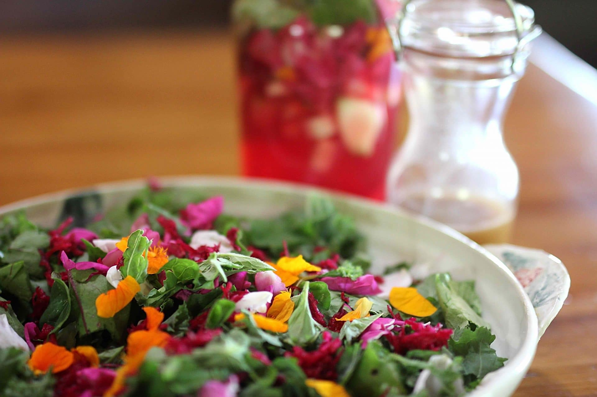 Fire & Heart Gourmet Salad with Fire Cider Vinaigrette