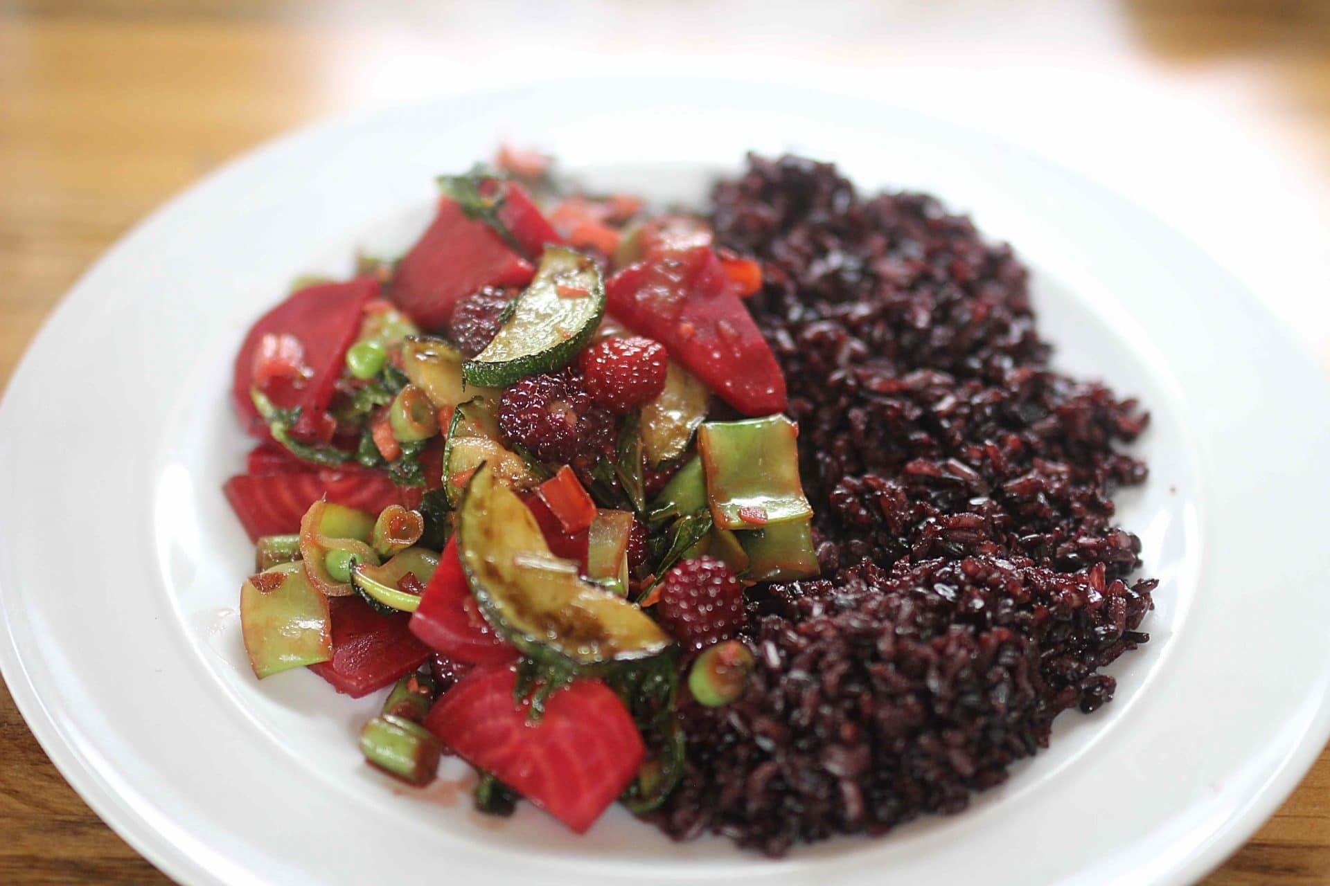 Blackberry & Beetroot Stir Fry Recipe